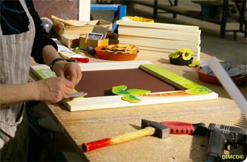 木製クリップ留めウサギフォトフレーム
