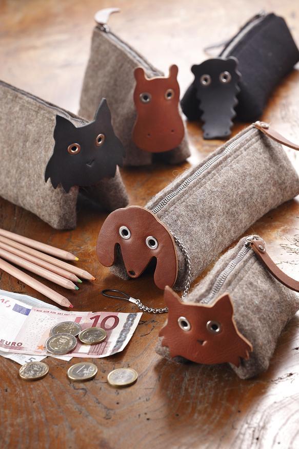 猫カバの財布小銭入れ